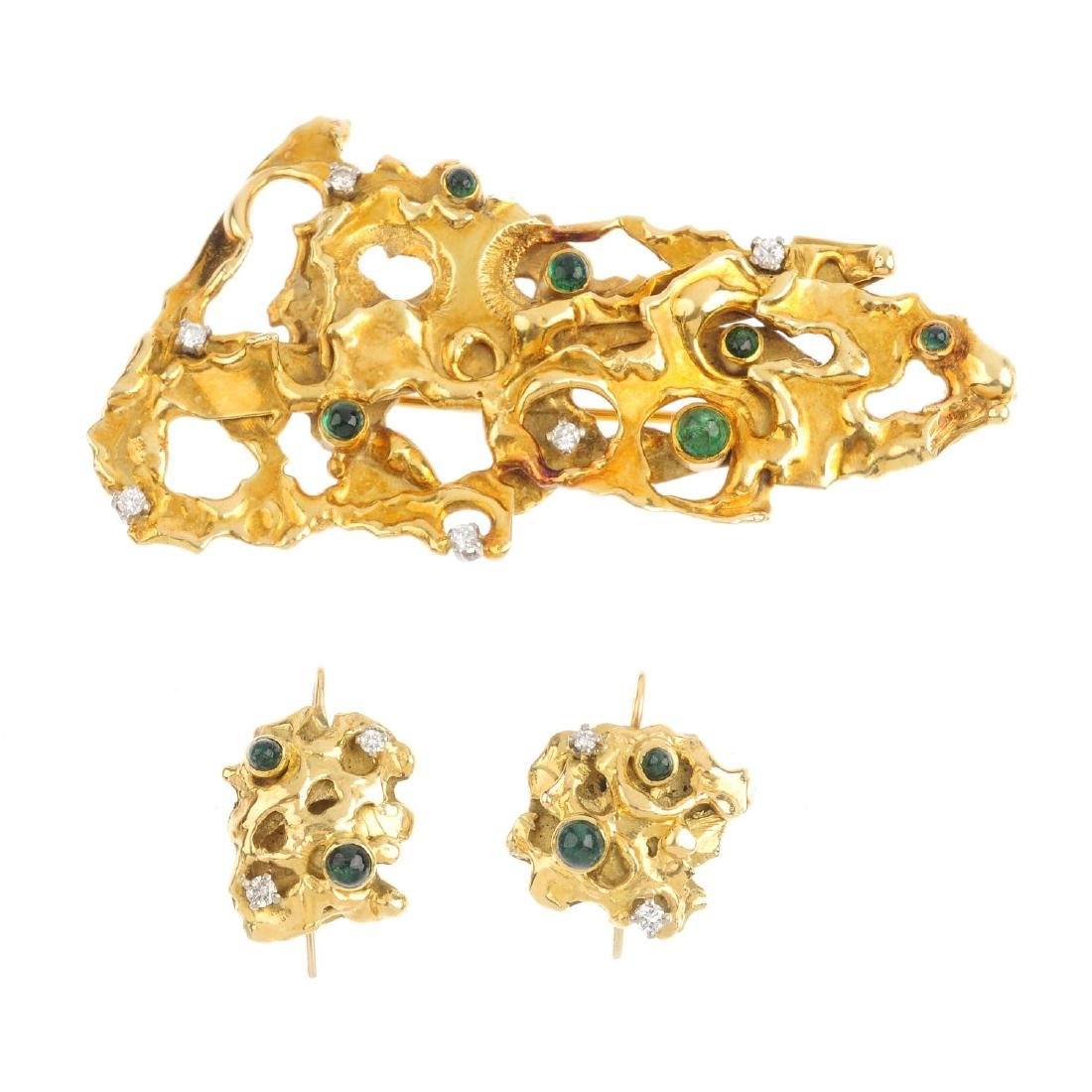CHARLES DE TEMPLE - a 1960s 18ct gold diamond and