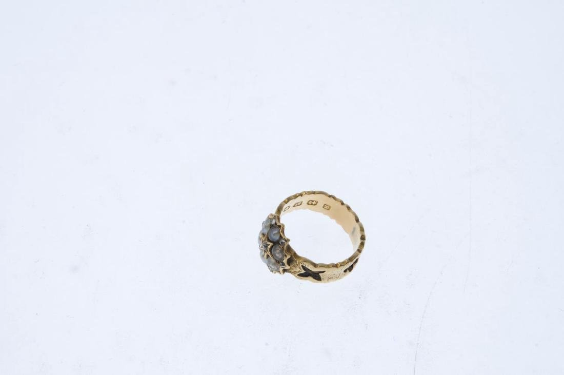 A mid Victorian 18ct gold diamond and split pearl - 3