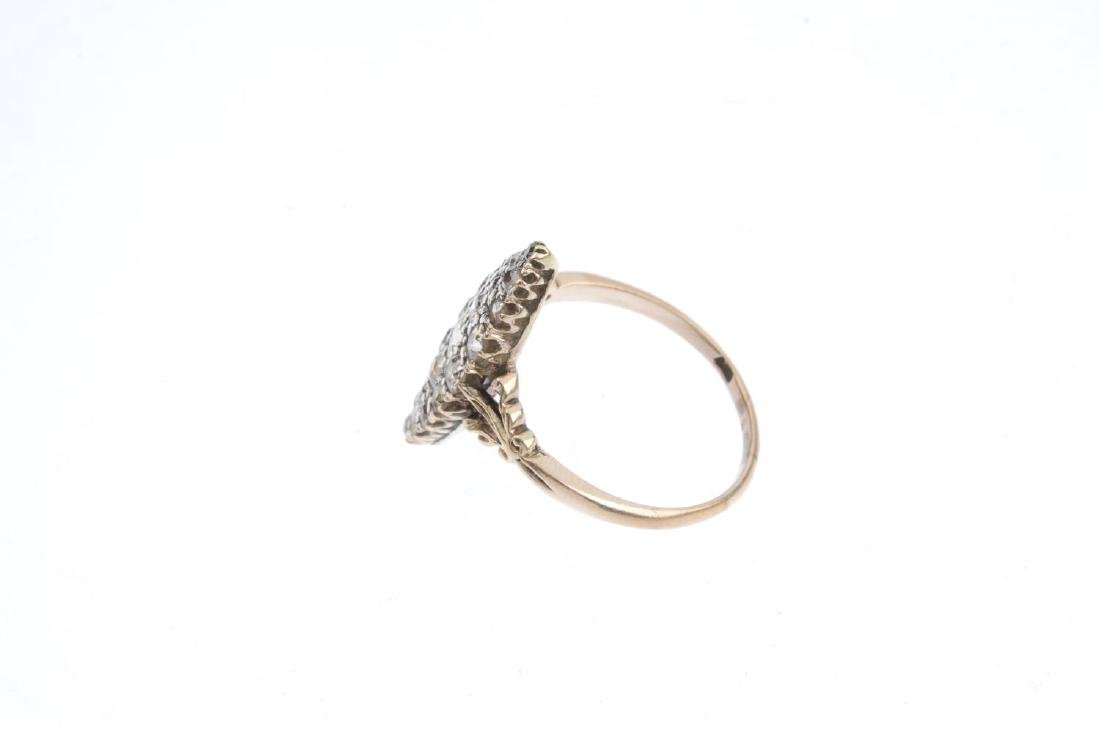 A diamond cluster ring. Of marquise-outline, the - 2
