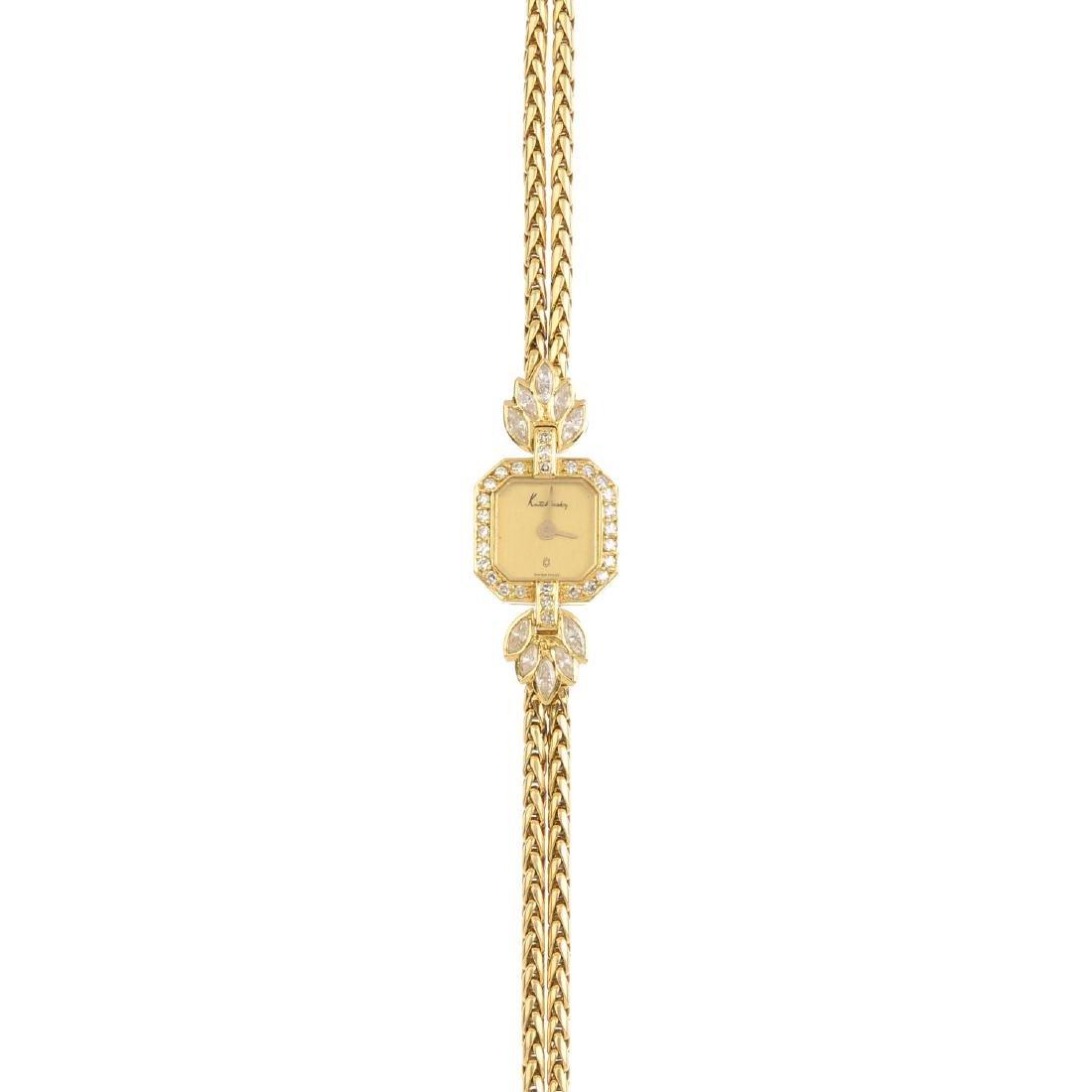KUTCHINSKY - a lady's diamond cocktail watch. The