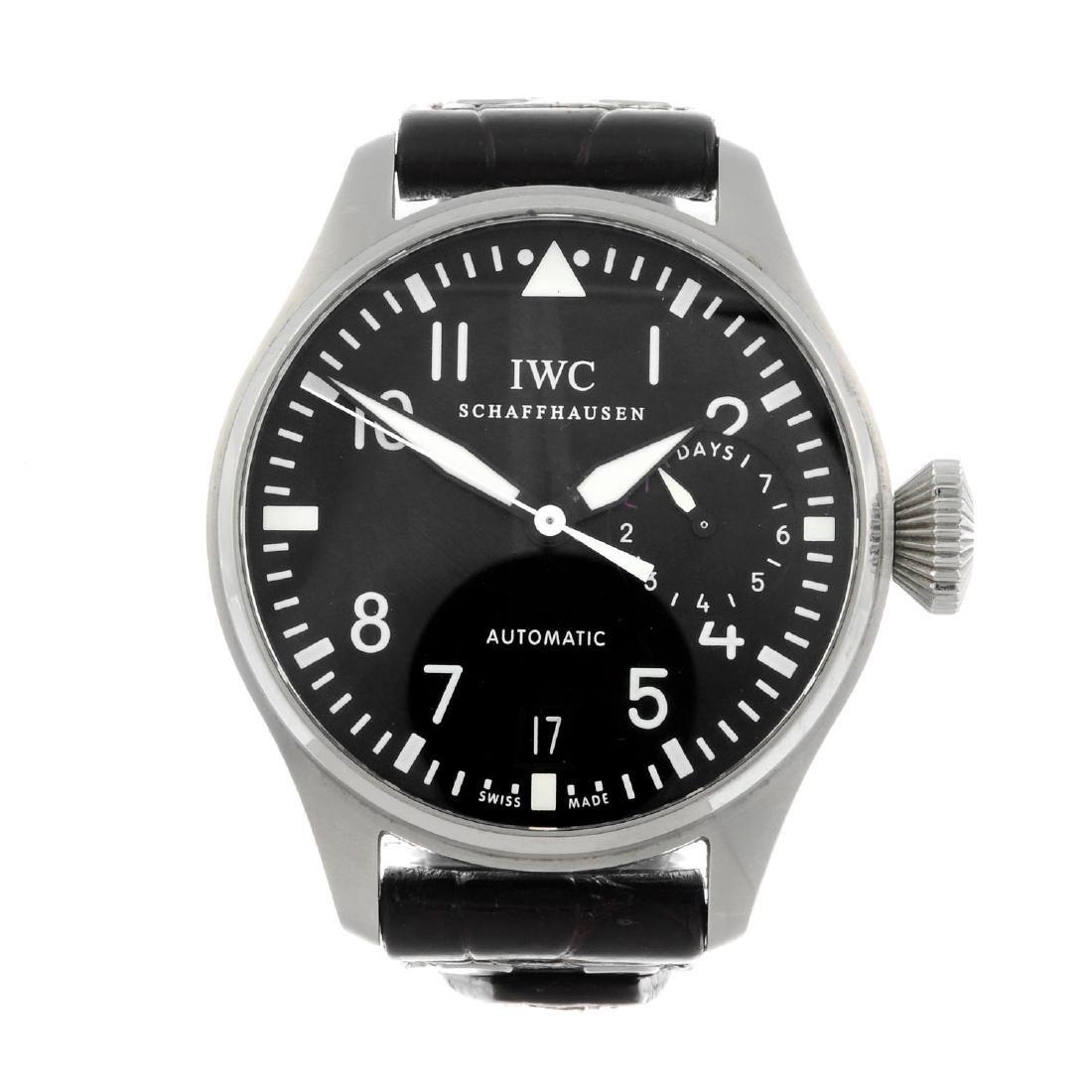 IWC - a gentleman's Big Pilot wrist watch. Stainless