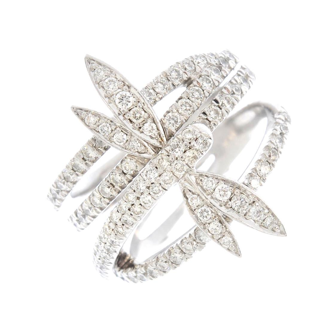 BOODLES & DUNTHORNE- an 18ct gold diamond ring. The