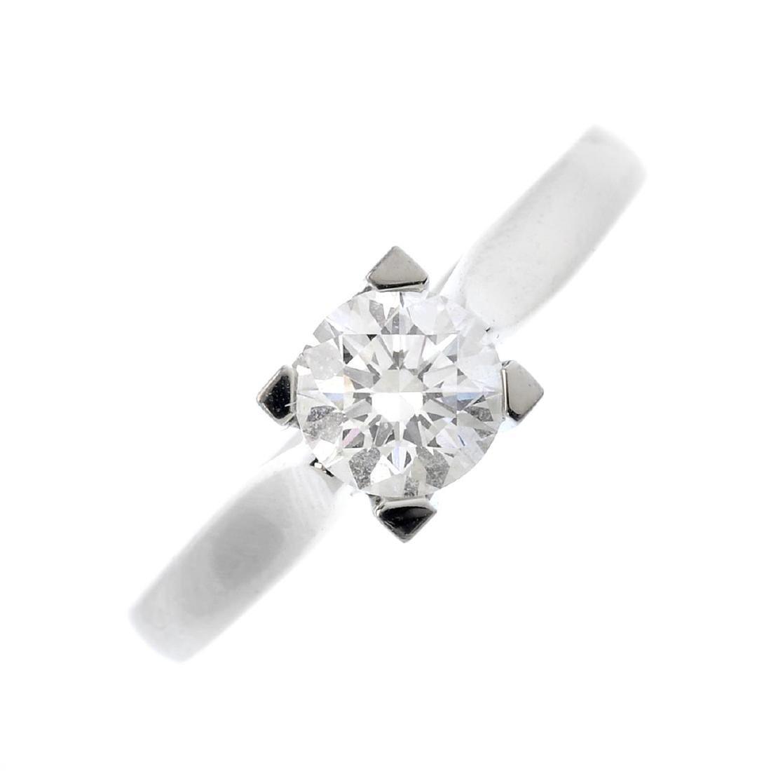 HARRY WINSTON - a diamond single-stone ring. The