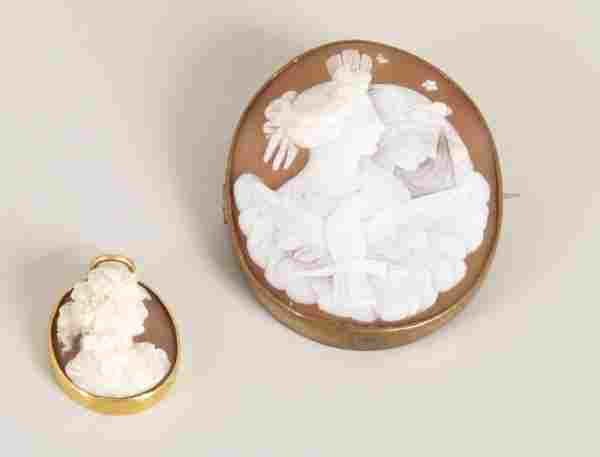 157: Two items of jewellery to include an oval cameo br