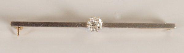 835: 15ct gold single stone old european cut diamond se