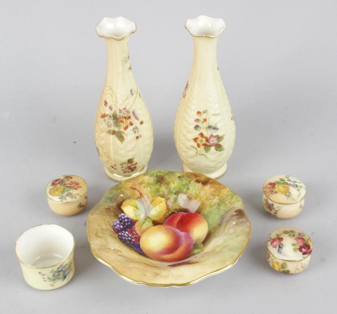 A group of Royal Worcester porcelain. Comprising: a