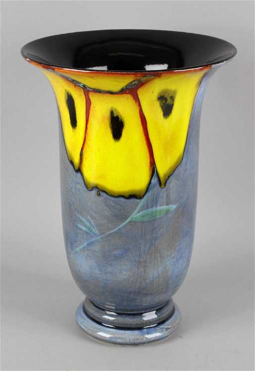 A Poole Pottery Wild Poppy Pattern Large Vase And