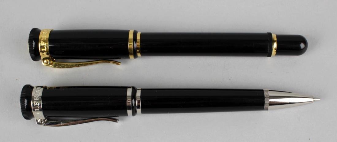 A Dunhill Sentryman ballpoint pen, the black resin body