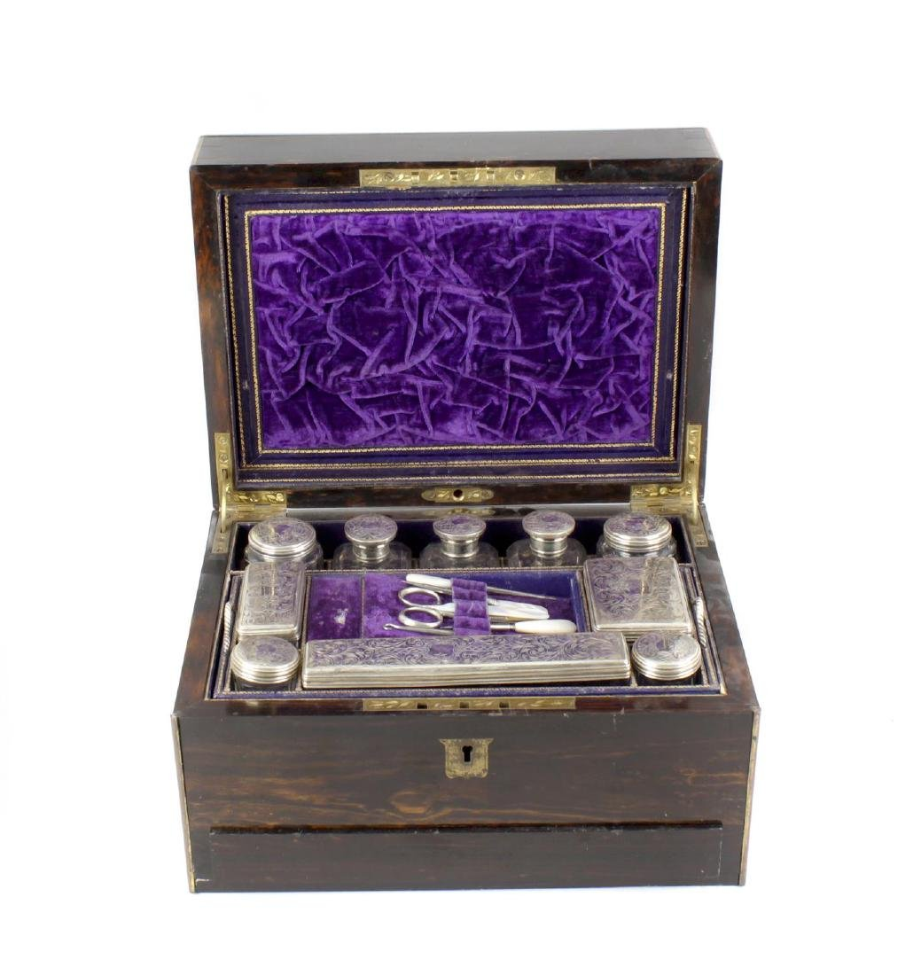 A turn of the century coromandel travelling case, of
