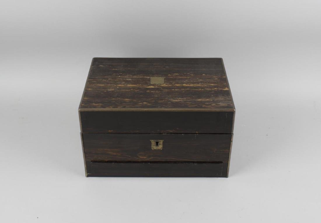 A turn of the century coromandel travelling case, of - 2