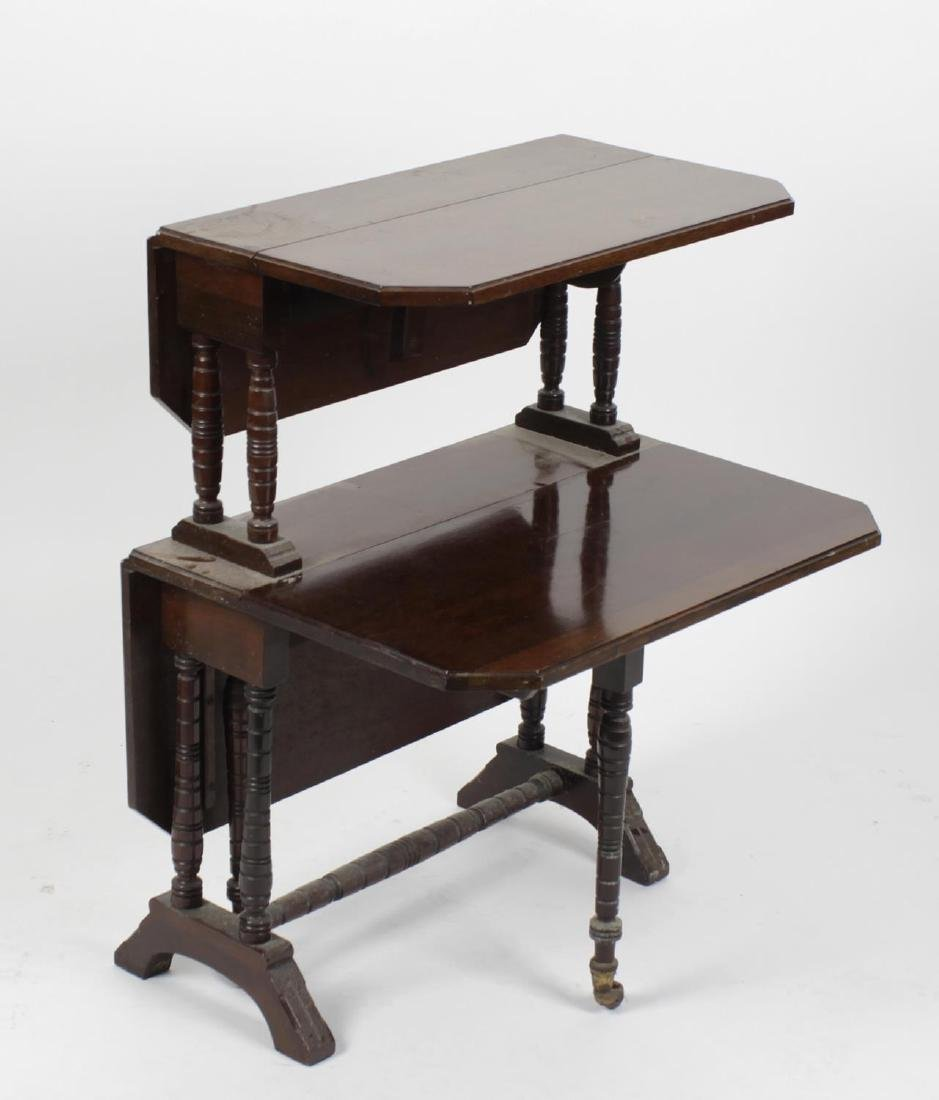 A late Victorian/Edwardian mahogany two-tier Sutherland