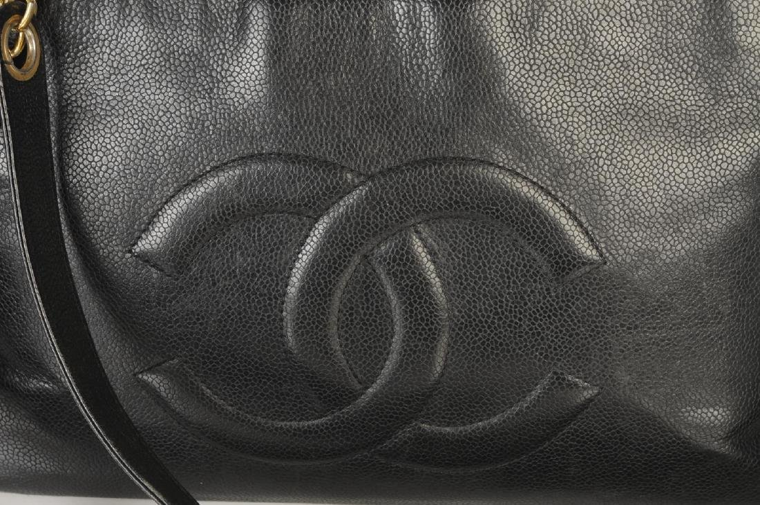 CHANEL - a Caviar leather handbag. The square tote with - 2