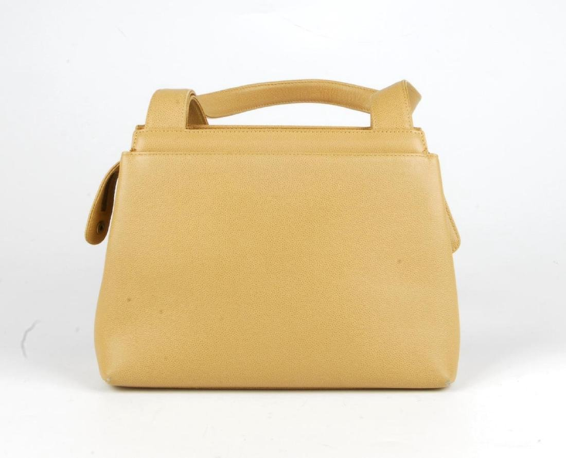 CHANEL - a late 90s small beige Caviar leather handbag. - 6