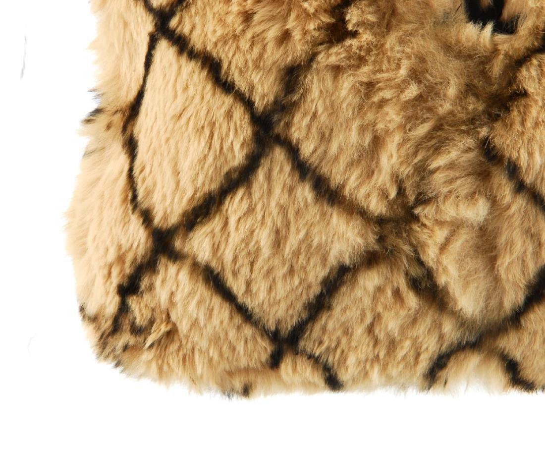 CHANEL - a fur handbag. Designed with a light brown - 3