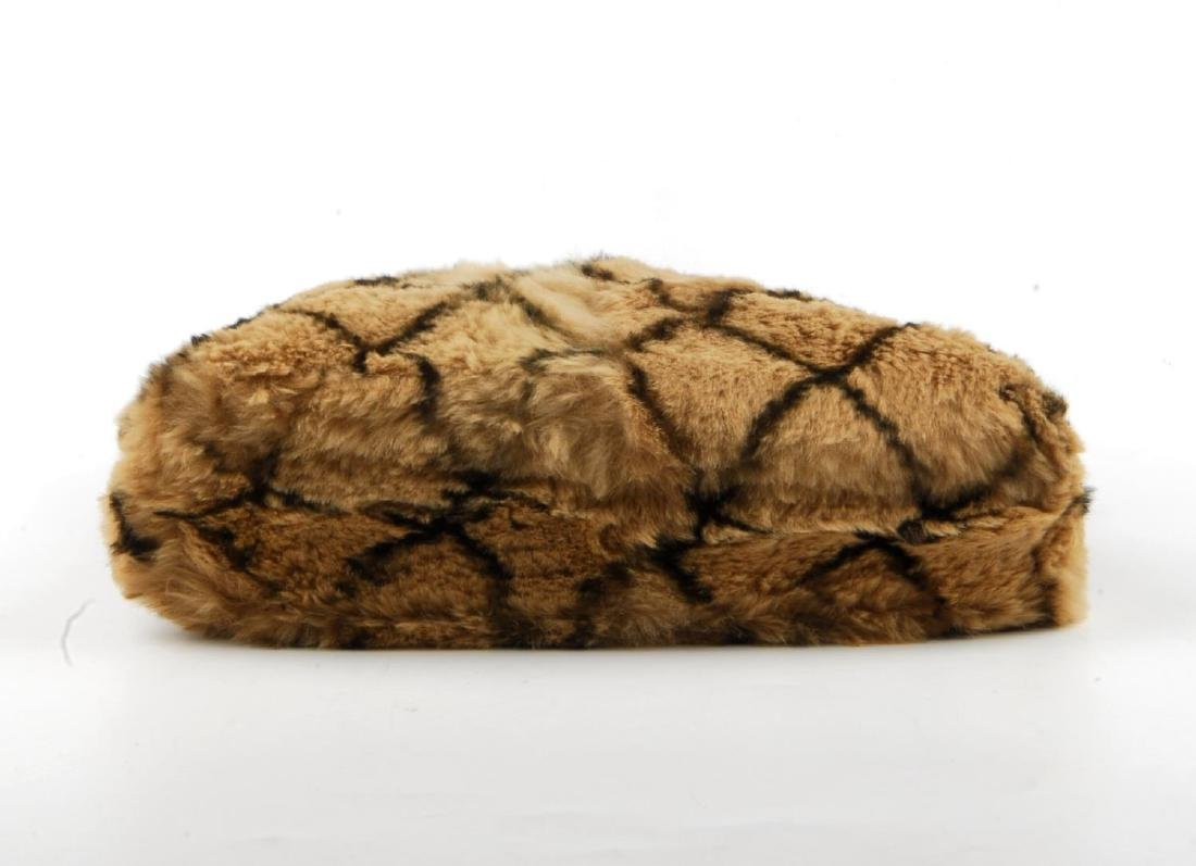 CHANEL - a fur handbag. Designed with a light brown - 5
