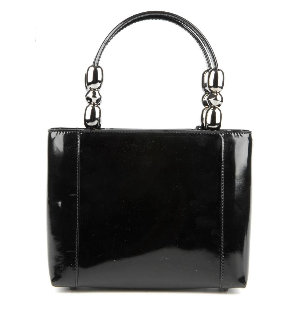CHRISTIAN DIOR - a patent leather Malice handbag. - 3