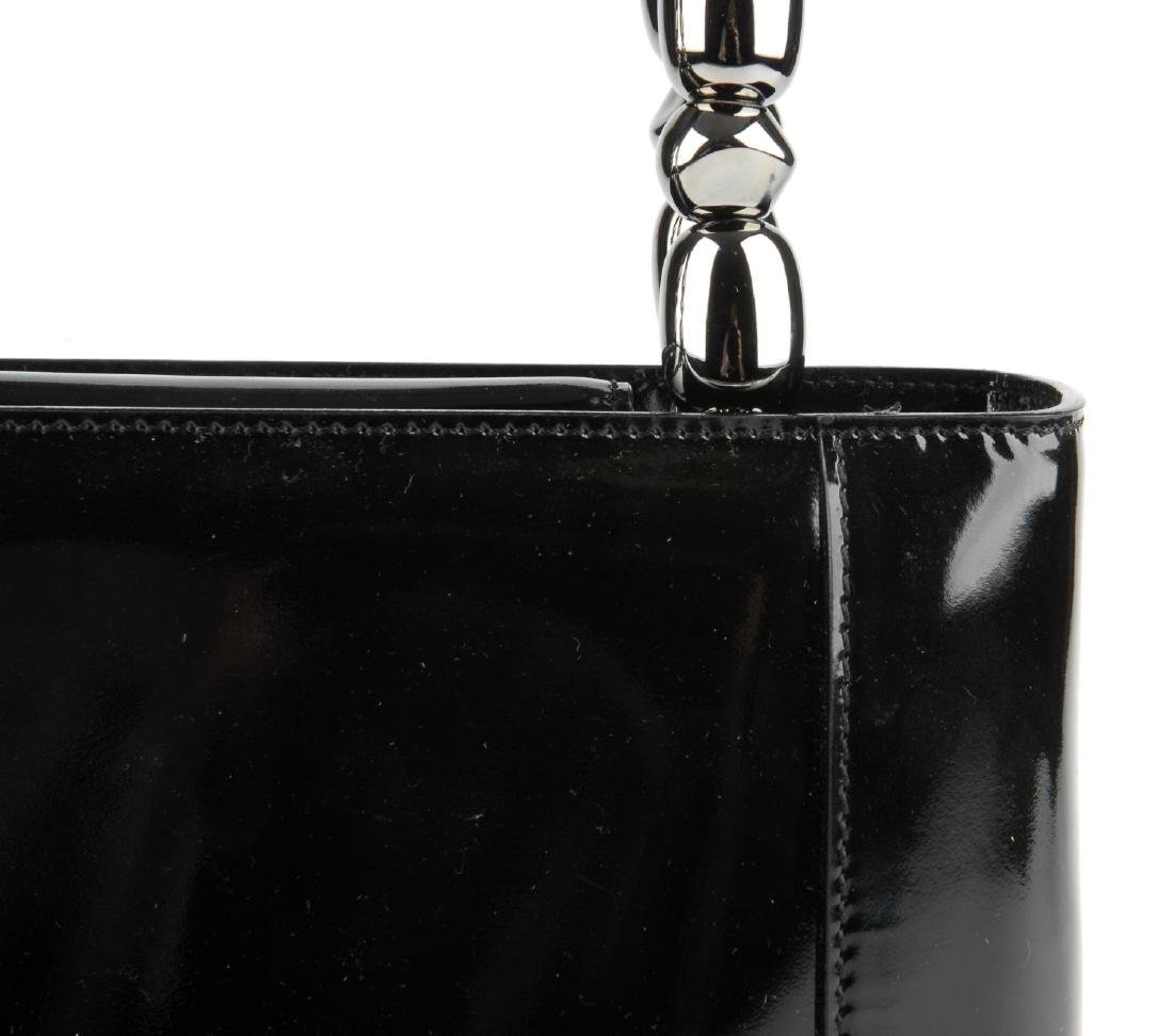 CHRISTIAN DIOR - a patent leather Malice handbag. - 6