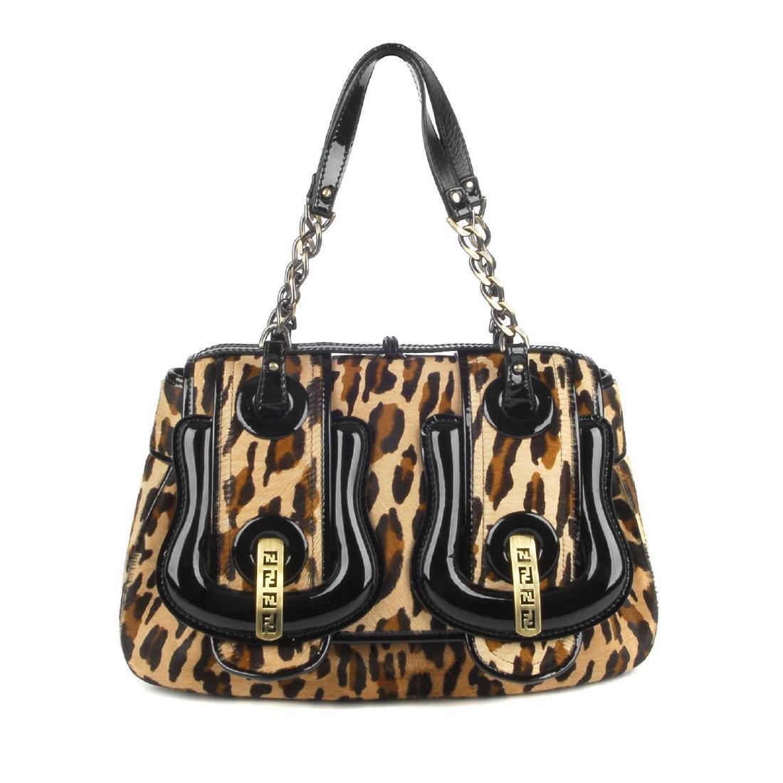 FENDI - a Double Buckle Flap handbag. Featuring a