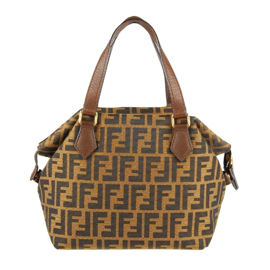 FENDI - a Zucca handbag. Crafted from maker's classic