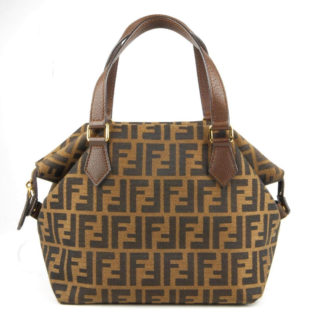 FENDI - a Zucca handbag. Crafted from maker's classic - 3
