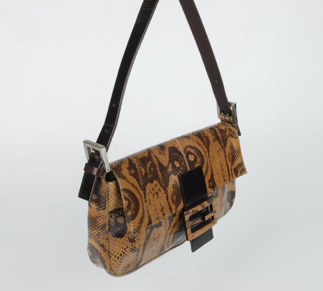 FENDI - two baguette handbags. The first, designed with - 2