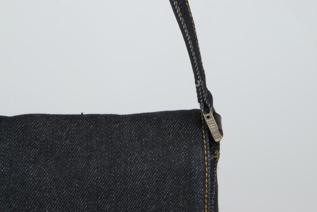 FENDI - two baguette handbags. The first, designed with - 5