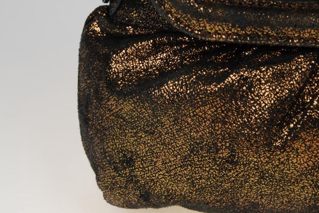 FENDI - a bronze metallic Chef Flap handbag. Designed - 4