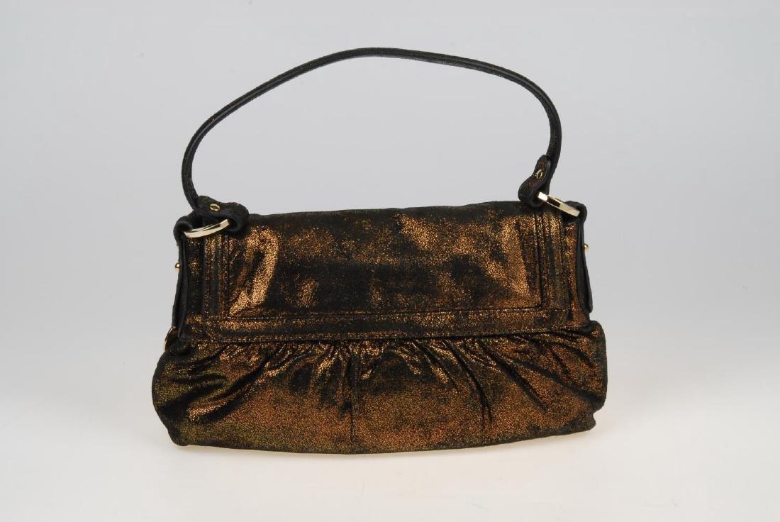 FENDI - a bronze metallic Chef Flap handbag. Designed - 6