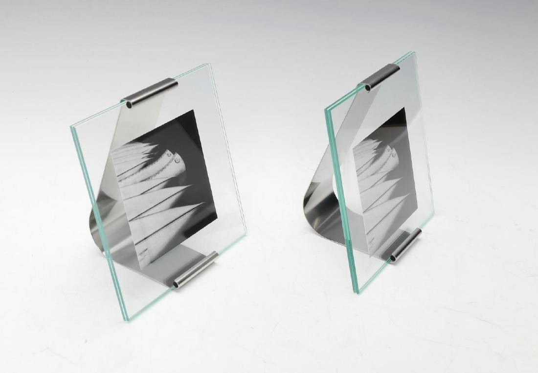 GEORG JENSEN - four small Reflection picture frames.