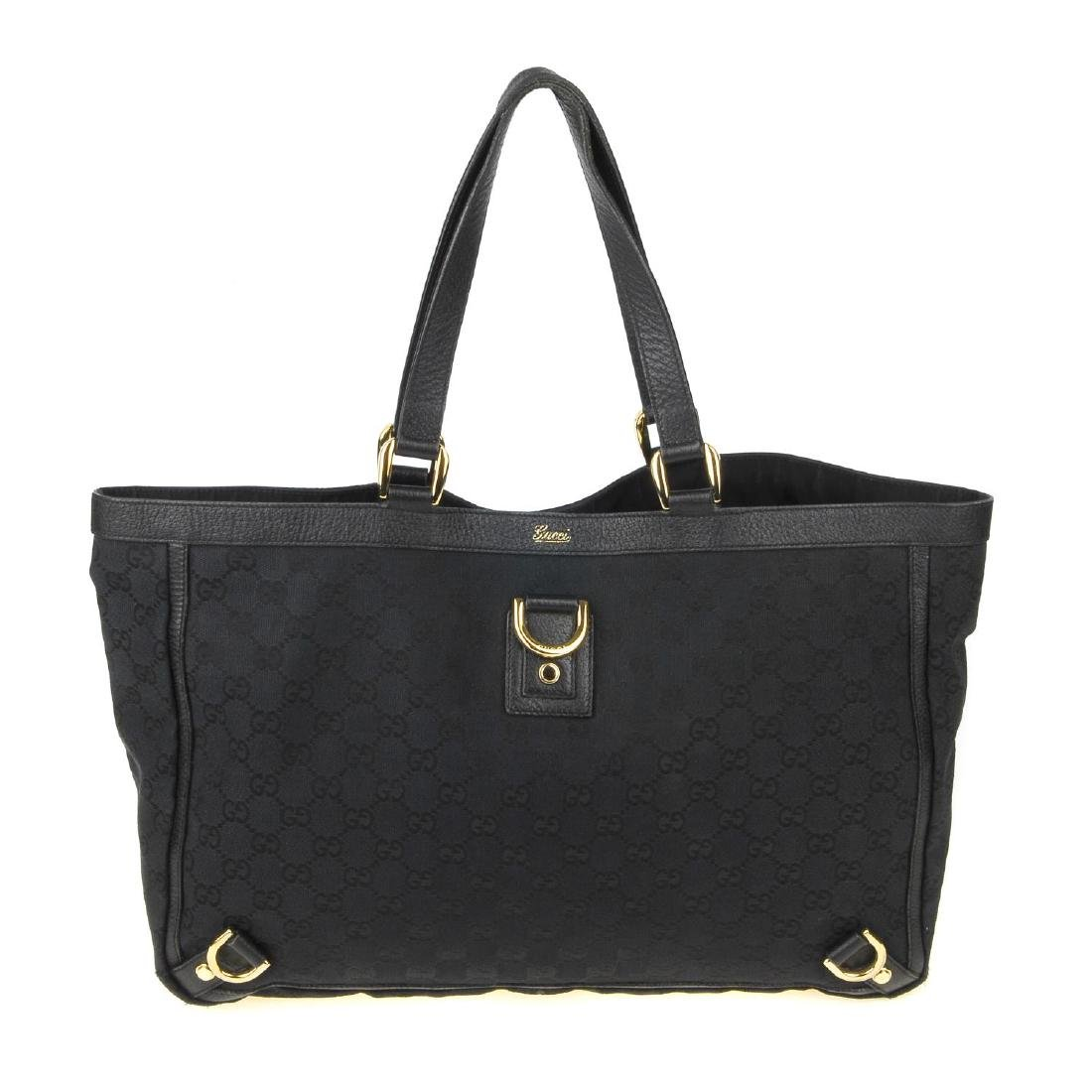 GUCCI - a black Abbey handbag. Crafted from black