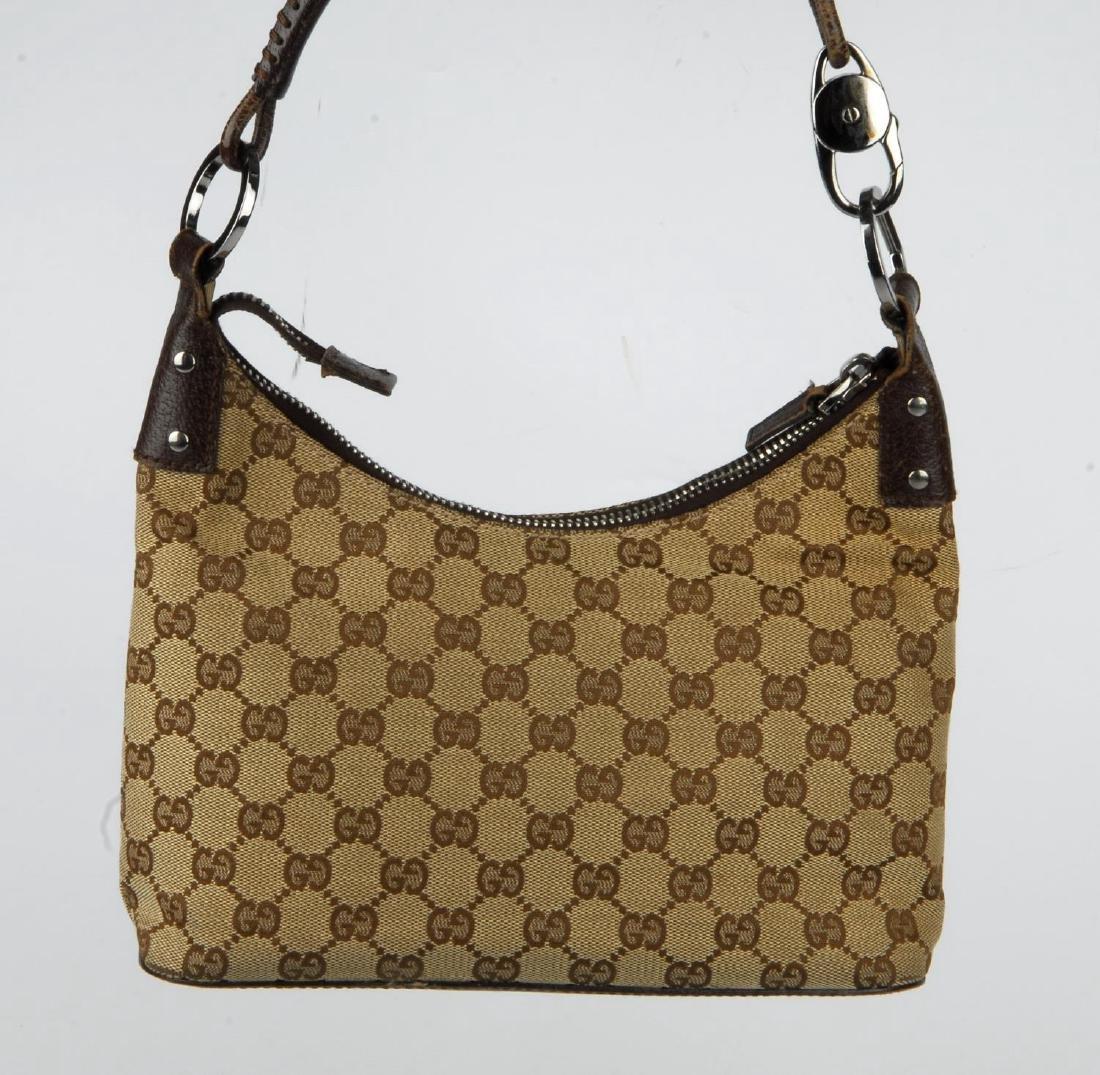 GUCCI - a Monogram canvas handbag. Designed with - 5