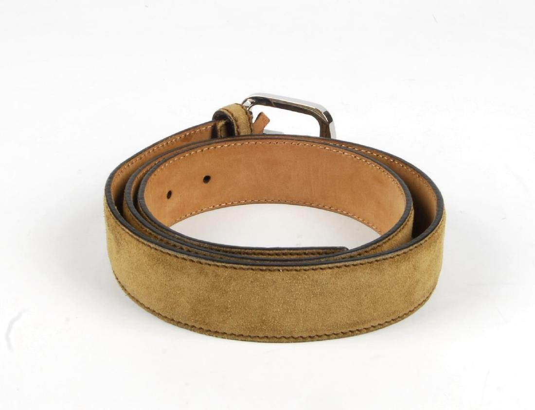 GUCCI - a suede belt. Crafted from beige suede, with a - 3