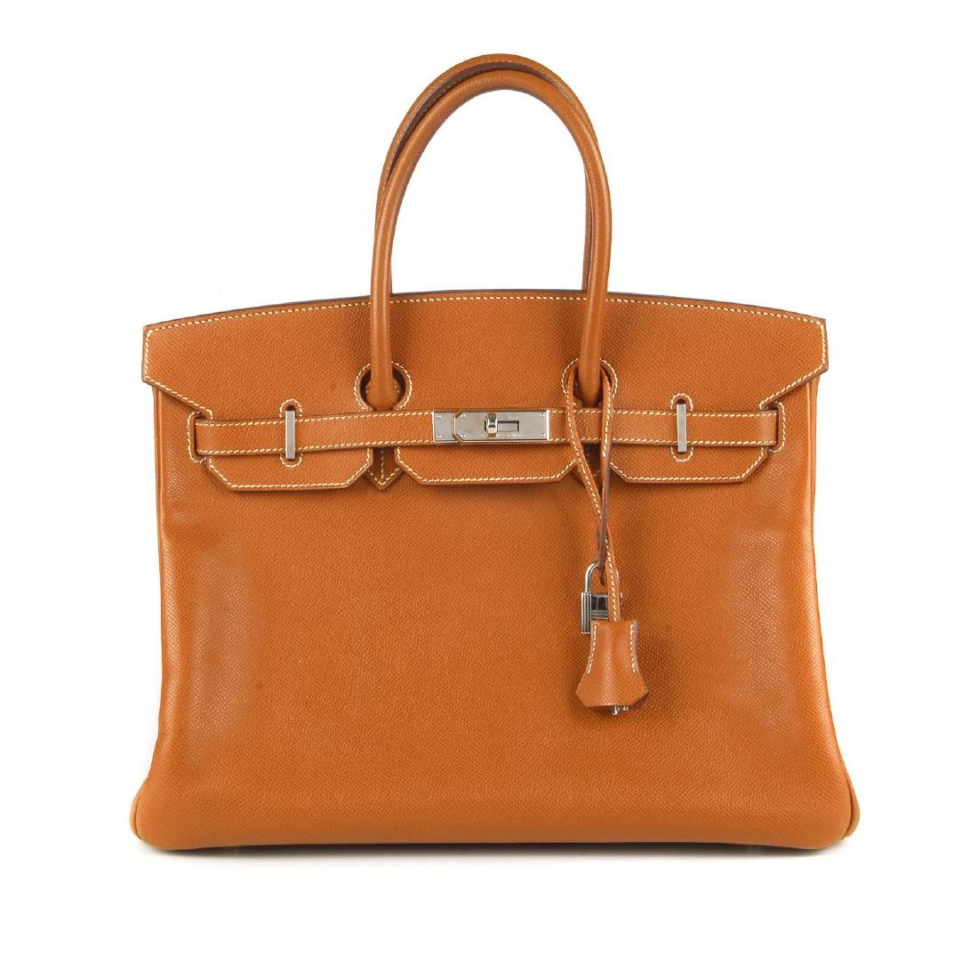 HERMÈS - a 2007 tan Epson Birkin 35 handbag. Crafted