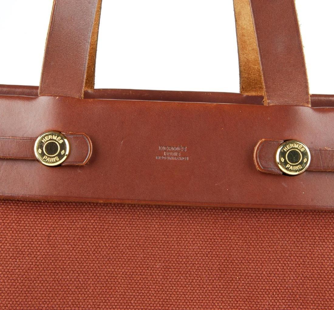 HERMÈS - a toile 2-in-1 Herbag Cabas MM handbag. A - 2