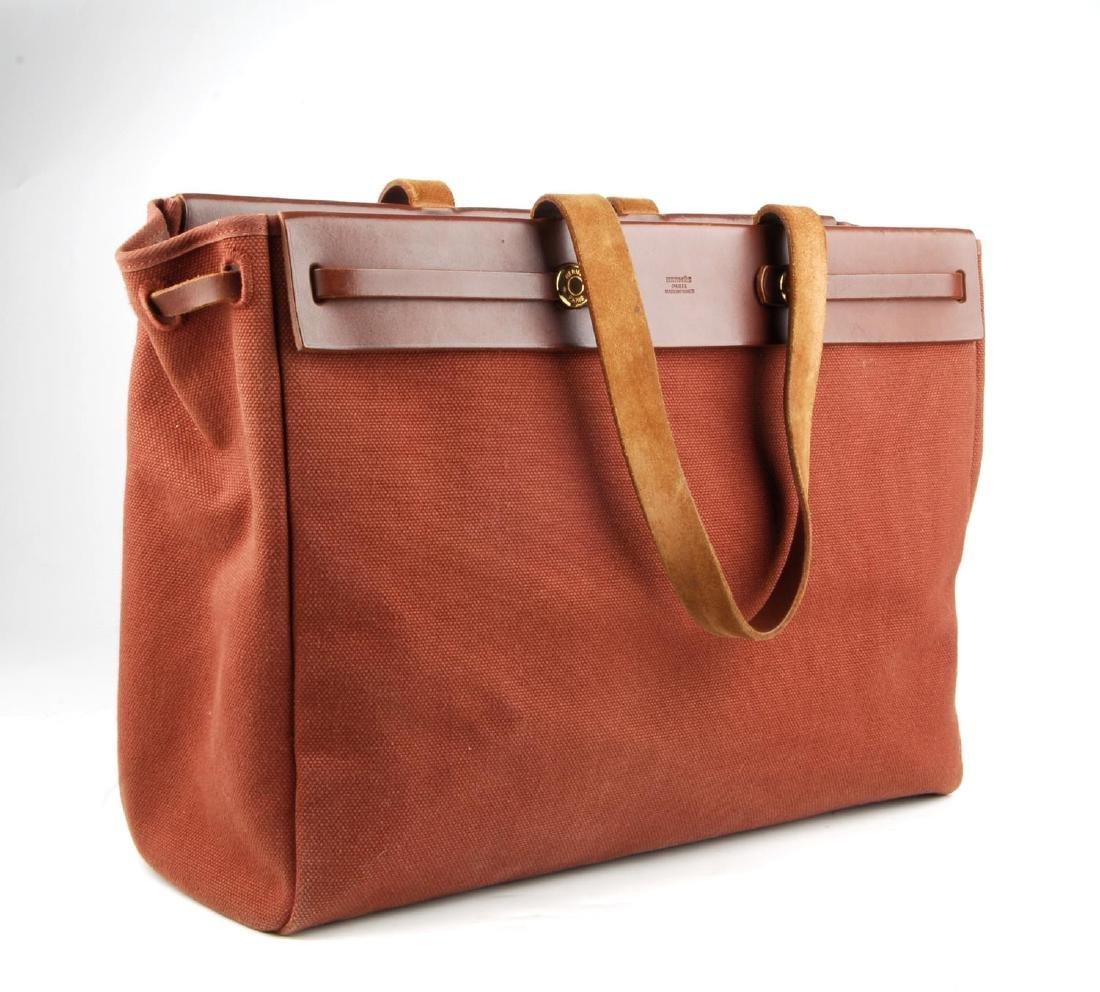 HERMÈS - a toile 2-in-1 Herbag Cabas MM handbag. A - 4