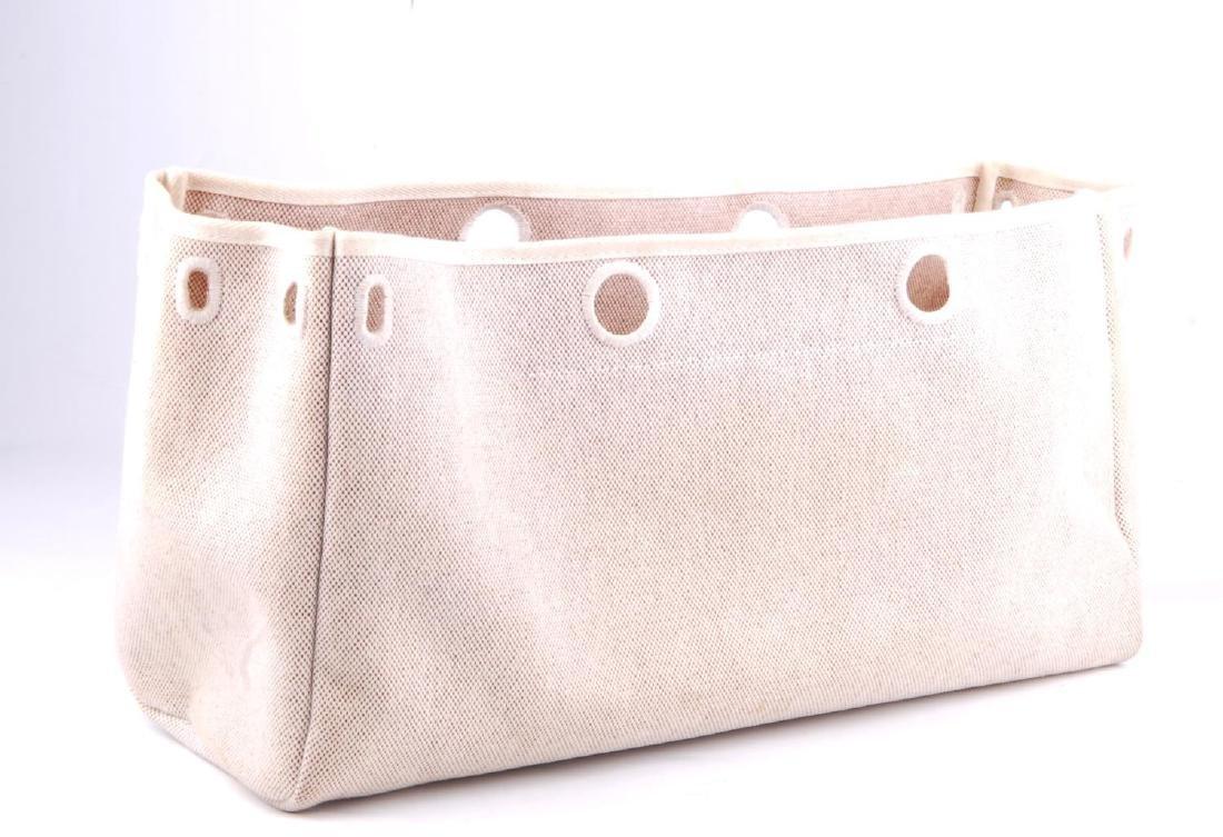 HERMÈS - a toile 2-in-1 Herbag Cabas MM handbag. A - 6