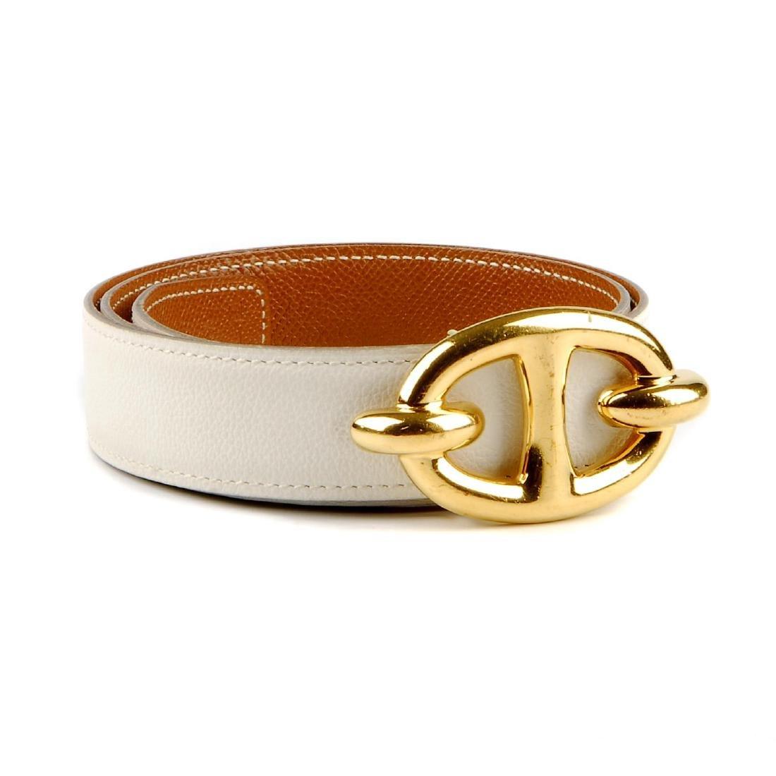 HERMÈS - a Chaine d'ancre reversible belt. Designed