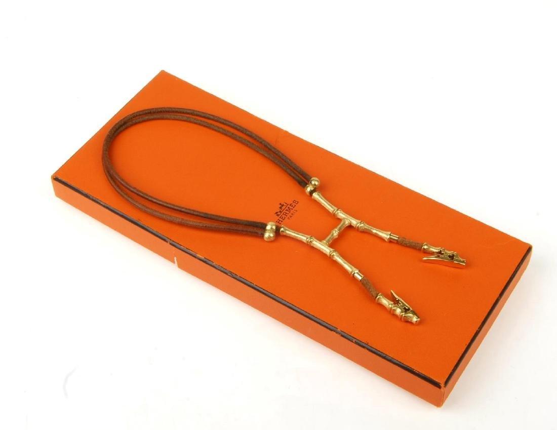 HERMÈS - a Bamboo halter necklace scarf clip. Designed - 4
