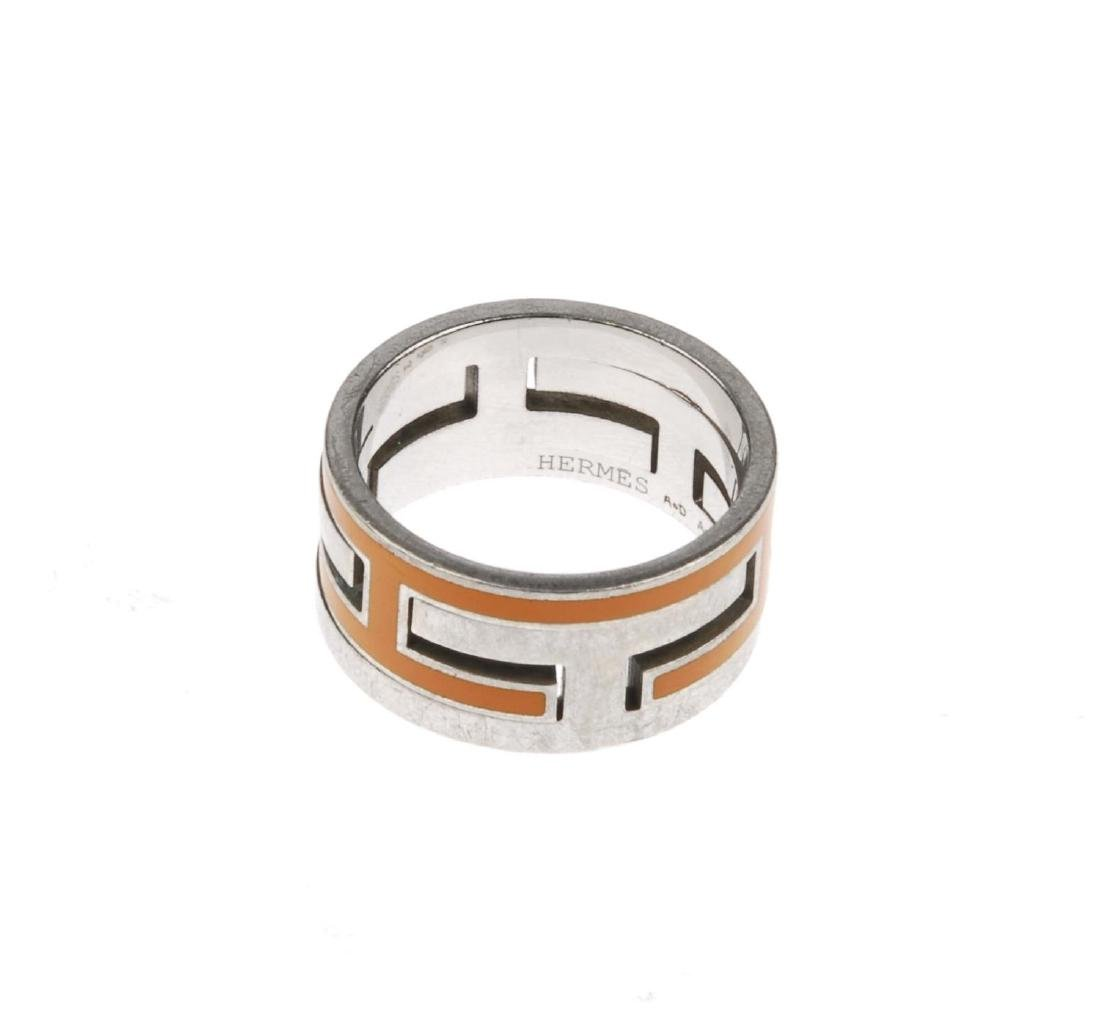 HERMÈS - a Move H ring. The silver-tone ring, designed - 2