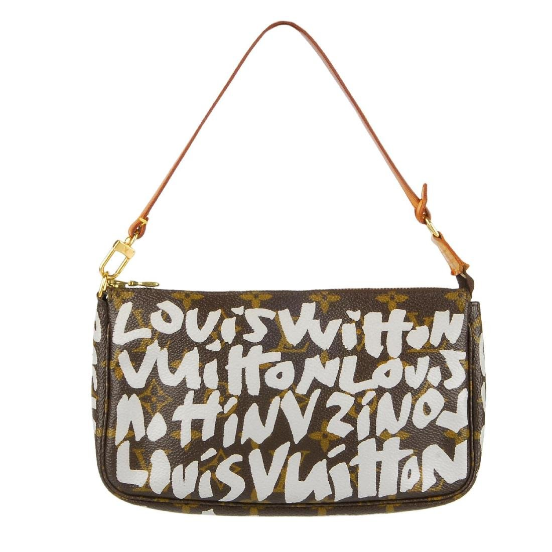 LOUIS VUITTON - a Monogram Graffiti Pochette