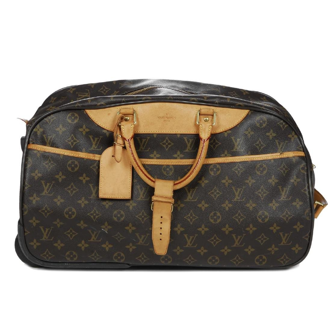 LOUIS VUITTON - a Monogram Eole 50 rolling duffle bag.