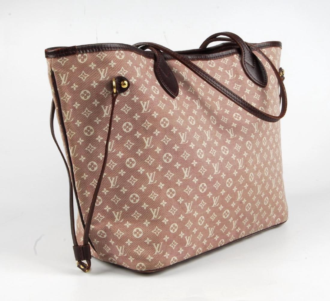 LOUIS VUITTON - a burgundy Idylle Neverfull MM handbag. - 4