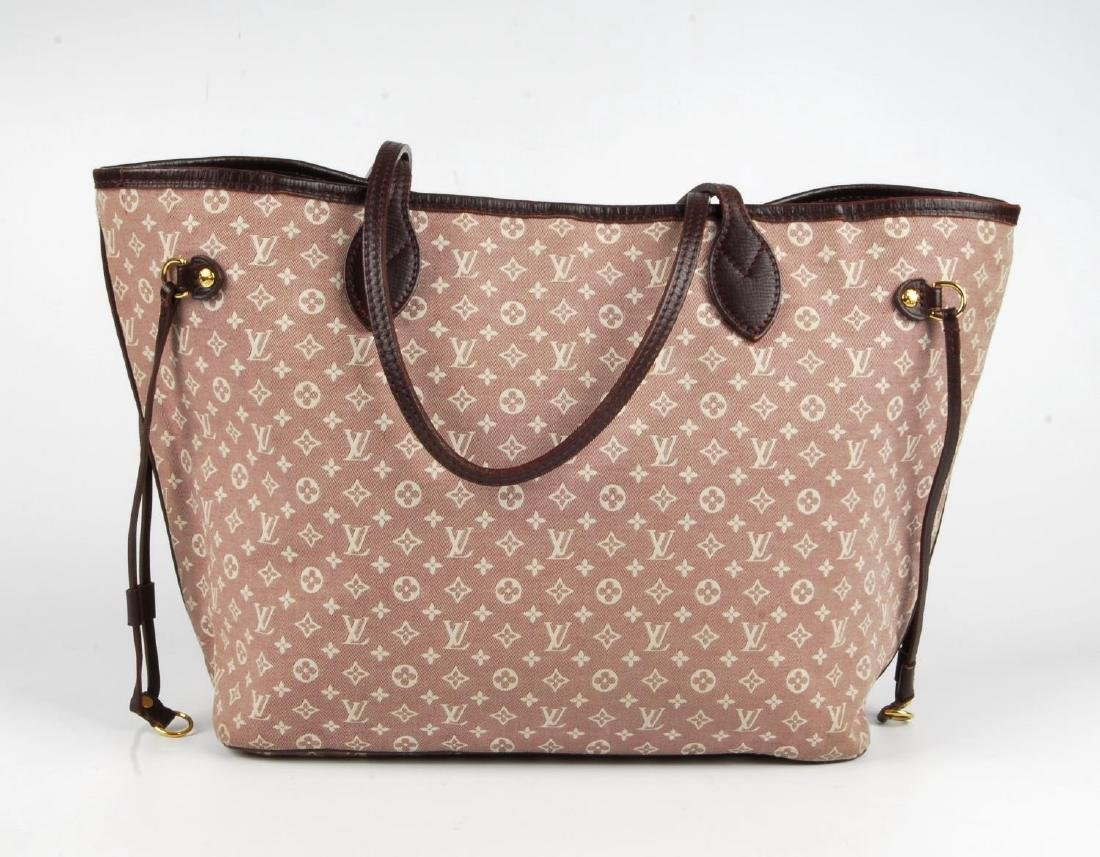 LOUIS VUITTON - a burgundy Idylle Neverfull MM handbag. - 5