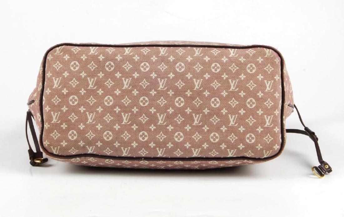 LOUIS VUITTON - a burgundy Idylle Neverfull MM handbag. - 6