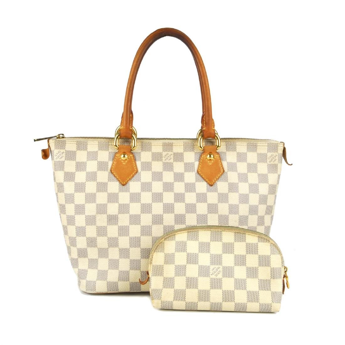 LOUIS VUITTON - a Damier Azur Saleya handbag and a