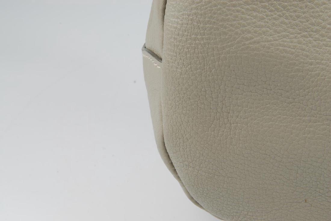 PRADA - a grey leather hobo handbag. Designed with a - 3