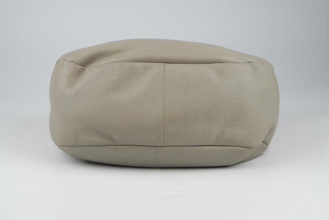 PRADA - a grey leather hobo handbag. Designed with a - 7