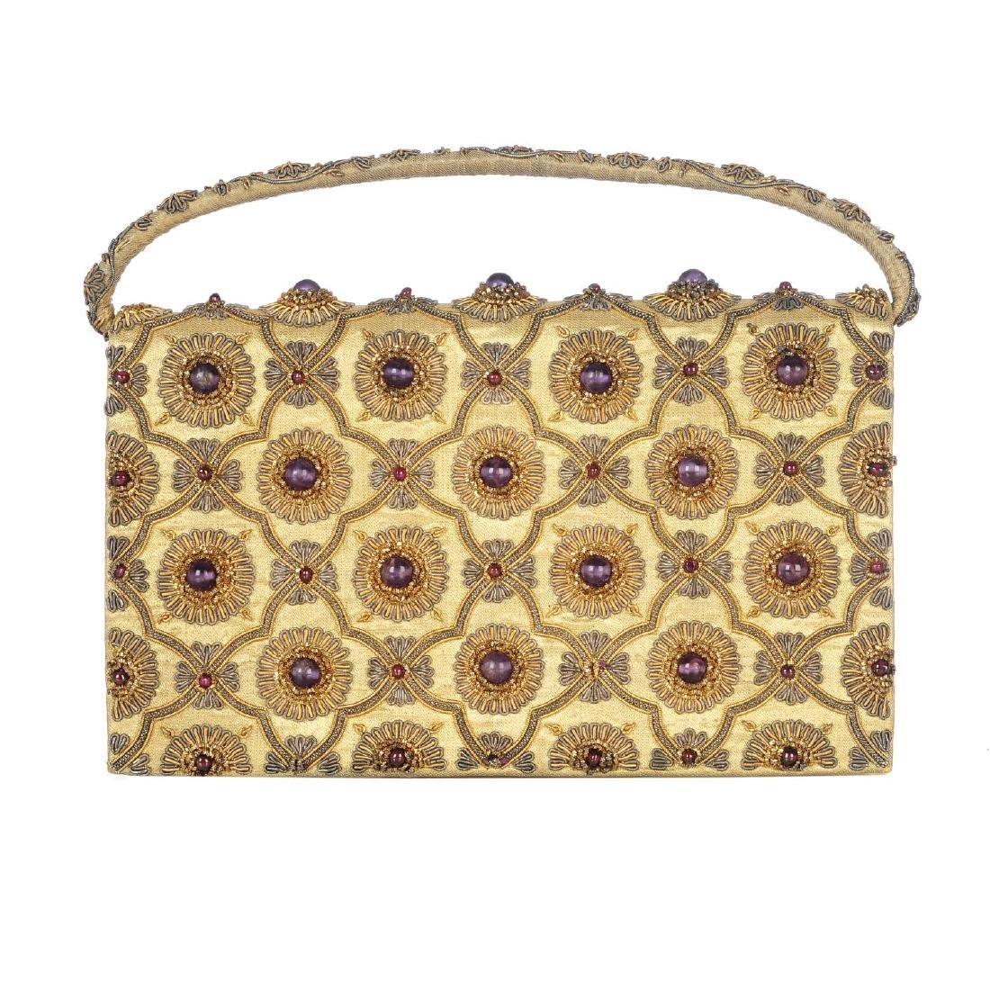 An early 20th century gem-set evening handbag