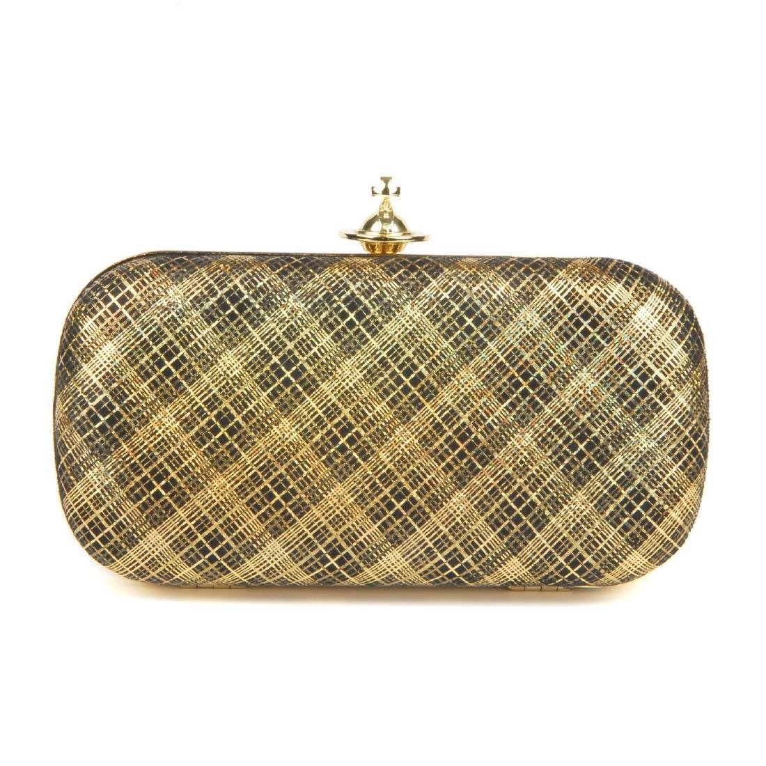 VIVIENNE WESTWOOD - a Galles plaid clutch. Designed
