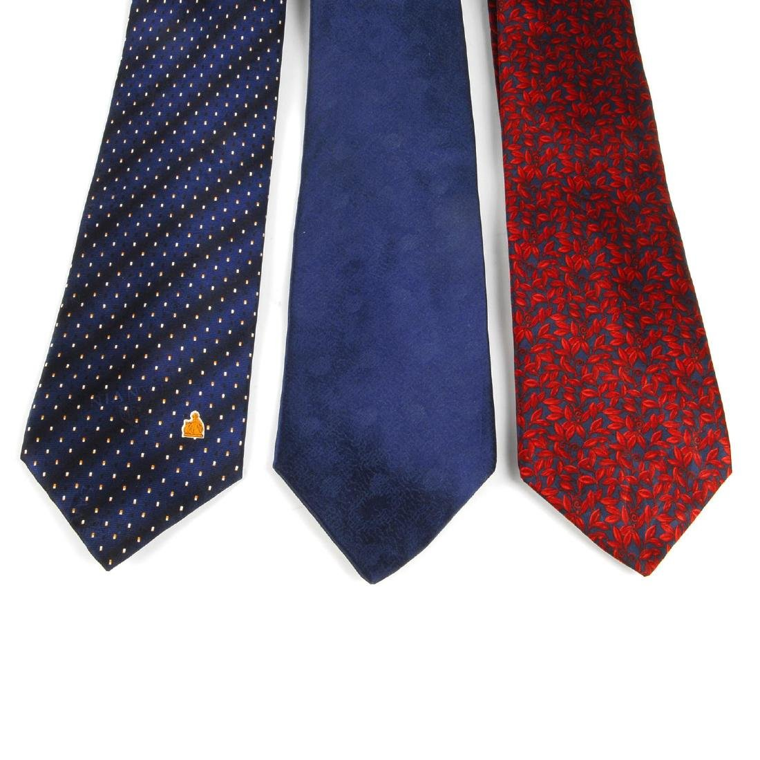 Eight ties. To include two Lanvin ties, one